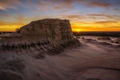 Tramonto sopra le pareti della Cina in Mungo National Park, Australia Fotografia Stock Libera da Diritti