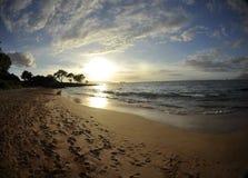 Tramonto sopra Maui fotografia stock