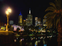 Tramonto sopra Melbourne CBD Immagine Stock Libera da Diritti