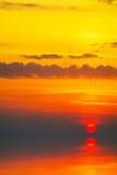 Tramonto sopra ocean.4 freddo Immagini Stock Libere da Diritti