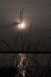 Tramonto sopra riserva nazionale del lago, lago lungo, ND Immagini Stock Libere da Diritti