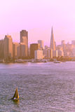 Tramonto sopra San Francisco Fotografia Stock Libera da Diritti