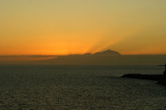 Tramonto sopra Tenerife immagini stock libere da diritti