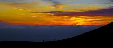 Tramonto spettacolare sopra San Francisco in California, U.S.A. fotografia stock libera da diritti