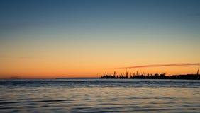 Tramonto in spiaggia di Stroomi Fotografia Stock