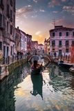 Tramonto stupefacente a Venezia immagine stock libera da diritti