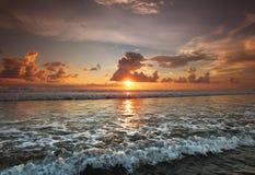 Tramonto su Bali Fotografie Stock