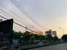 Tramonto su Bangkok Immagine Stock Libera da Diritti
