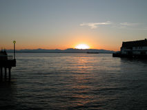 Tramonto su Puget Sound Fotografie Stock
