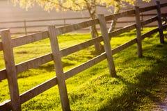 Tramonto su un'azienda agricola Fotografia Stock
