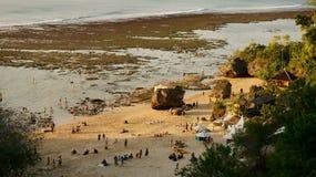 Tramonto su una spiaggia Immagini Stock Libere da Diritti