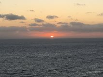 Tramonto sui Caraibi Fotografia Stock