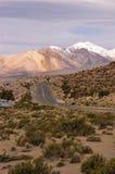 Tramonto sul Altiplano cileno fotografia stock