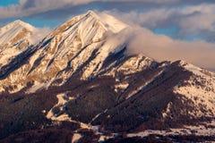 Tramonto sul Autane minuta e grande, Champsaur, alpi, Francia Fotografie Stock