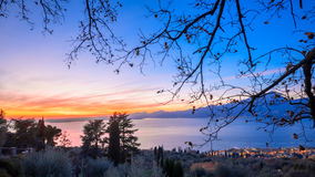 Tramonto-sul Lago di Garda Lizenzfreie Stockbilder