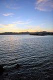 Tramonto sul litorale Fotografia Stock