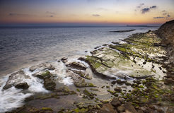 Tramonto sul litorale di Tarifa Fotografia Stock Libera da Diritti