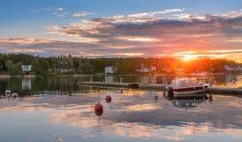 Tramonto sul Mar Baltico Fotografie Stock Libere da Diritti
