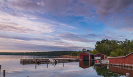 Tramonto sul Mar Baltico Fotografie Stock