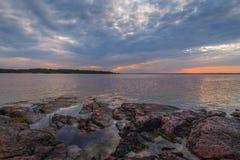 Tramonto sul Mar Baltico Immagine Stock