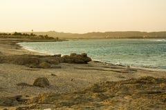 Tramonto sul Mar Rosso Fotografia Stock Libera da Diritti