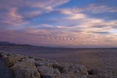 Tramonto sul Mar Rosso Immagini Stock