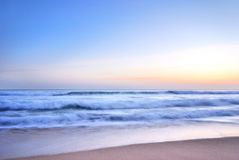 Tramonto sul mare Fotografia Stock Libera da Diritti