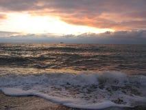 Tramonto sul mare Immagine Stock Libera da Diritti