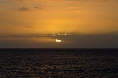 Tramonto sul mare Fotografia Stock