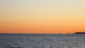 Tramonto sul mare Fotografie Stock Libere da Diritti