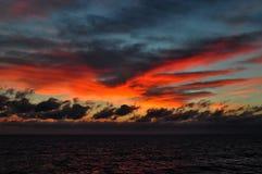 Tramonto sul mare adriatico Fotografie Stock Libere da Diritti