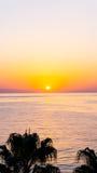 Tramonto sul mare Bellezza di alba Fotografia Stock