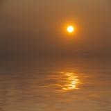 Tramonto sul mare a titolo dimostrativo fotografia stock