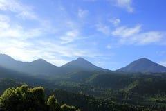 Tramonto sul montain del munduk in Bali immagine stock libera da diritti