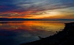 Tramonto sull'estuario di Beauly, Scozia Fotografia Stock Libera da Diritti