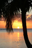 Tramonto sull'isola di paradiso Fotografia Stock Libera da Diritti