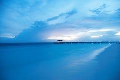 Tramonto sull'isola reale Fotografie Stock Libere da Diritti