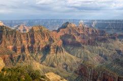 Tramonto sull'orlo del nord del grande canyon Immagine Stock