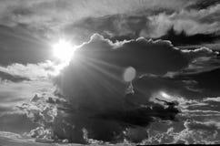 Tramonto sull'orlo della nuvola Fotografia Stock