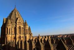 Tramonto sulla cattedrale di Salamanca Fotografie Stock