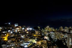 Tramonto sulla collina di Cantagalo fotografia stock libera da diritti