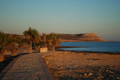 Tramonto sulla costa di Ayia Napa Cipro Fotografia Stock
