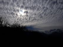 Tramonto sulla montagna Immagine Stock Libera da Diritti