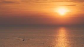 Tramonto sulla spiaggia Immagine Stock Libera da Diritti