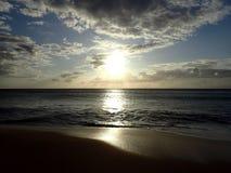 Tramonto sulla spiaggia di Pahohaku Fotografia Stock Libera da Diritti
