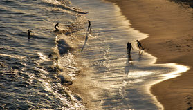 Tramonto sulla spiaggia di Piratininga immagini stock