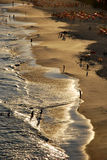 Tramonto sulla spiaggia di Piratininga fotografie stock libere da diritti