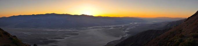 Tramonto sulla vista del ` s di Dante, nel Death Valley immagini stock libere da diritti