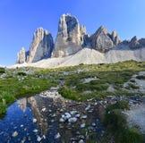Tramonto-sulle Pale di San Martino Stockfoto