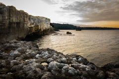 Tramonto sulle rocce Fotografia Stock